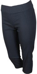 Zhenzi - Twist stump pants in power stretch with wide rubber band in whole the waist