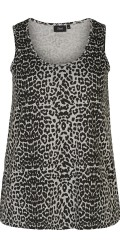 Zizzi - Nat top i leopard/animalprint
