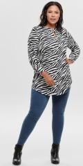 ONLY Carmakoma - Tunika Hemd mit Schlitzen mittig für. Lange Ärmeln mit Bündchen