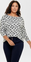 ONLY Carmakoma - It softest blouse in strechy material with nice print