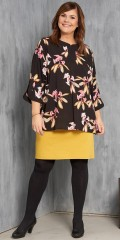 Gozzip - Sweet shirt blouse with 3/4 sleeves,  also pleat on the back, which gives a nice fall