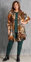 Skjorte tunika med dyre print i a-facon