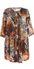 Gozzip - Skjorta tunika med dyra tryck i a-formad