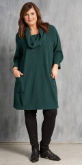 Gozzip - Tunica dress with 3/4 sleeves