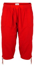 Zizzi - Capri stumpe buks med elastik og snøre i taljen, samt snøre i benene