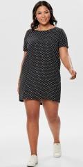 ONLY Carmakoma - Carlux cecilia Kleid mit kurze Ärmeln und kurz Reissverschluss in Nacken