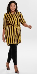 ONLY Carmakoma - Shirt dress with collar and narrow manchet