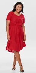 ONLY Carmakoma - Smart dress with highlighted waist and nice flounce in asymmetric cut