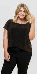 ONLY Carmakoma - Top mit gold glitzer