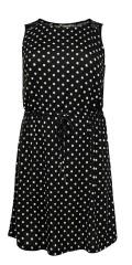 ONLY Carmakoma - Alba liva weich strechy Kleid ohne Ärmeln mit Spitze in Tragstück sowie binden in Taille