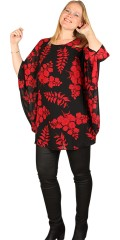 Studio Clothing - Tunica in chiffon with red flowers