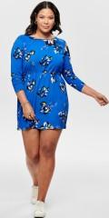 ONLY Carmakoma - Cecilia långärmad klänning med gummiband i om midja