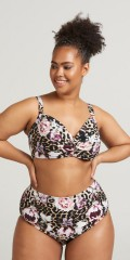 Zizzi - Solid bikini-top with stuffing and adjustable straps