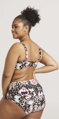 Zizzi - Smart bikini pants with animal print and flowers