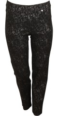 Robell - Pants with nice silver print