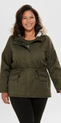 ONLY Carmakoma - Carruby short parka coat
