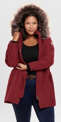 ONLY Carmakoma - Carirena parka coat jacket with cap