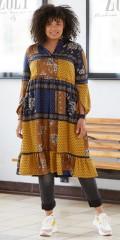 Zoey - Mønstret kjole