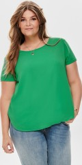 ONLY Carmakoma - Smart short sleeved blouse with slits in the neck