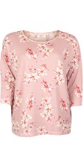 ONLY Carmakoma - Alba blouse with 3/4 sleeves, in stylish soft quality little oversize.