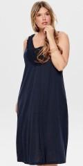 ONLY Carmakoma - Løs kjole i strækbart materiale med detalje foran.