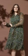Zhenzi - Long-sleeve maxi dress with flounce