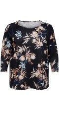 ONLY Carmakoma - Bluse med blomsterprint