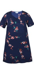 Zhenzi - Harlan flowery dress (navy blue)