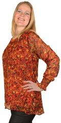 Zhenzi - Jouvet genser, chiffon genser med lurex