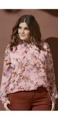 Zhenzi - Hofman chiffon blomstrad blus