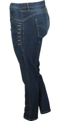 Dasia jeans with stretch and adjustable rubber band in the waist