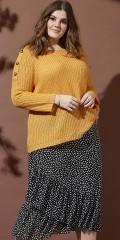 Zhenzi - Kjol med sned volangkant