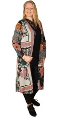 Zhenzi - Lang kimono l/s, krepp chiffon