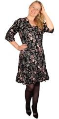 Zhenzi - Kjole dress i blomster trykk og bindebånd