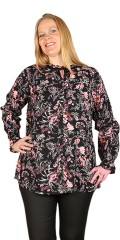Zhenzi - Skjorte bluse i blomster print