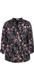 Zhenzi - Skjorta blus i blommor tryck