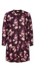 Gozzip - Tunica dress with flowers print