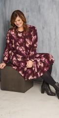 Gozzip - Tunika klänning med blommor tryck