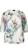 Zizzi - Blomstret bluse