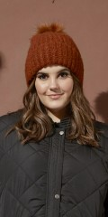 Zhenzi - Knitted knitted hat with fake fur