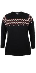 Zhenzi - Pullover l/s-acrylic/wool knit