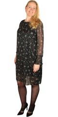 Cassiopeia - Julandrea klänning, klänning i vacker tryckta chiffon med glimmer