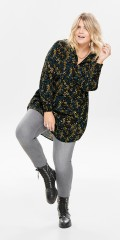 ONLY Carmakoma - Skjorte med blomster print