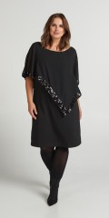 Zizzi - Xtian kne cape dress