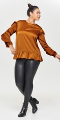 ONLY Carmakoma - Curvy imitated leather leggings