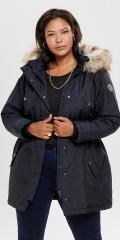 ONLY Carmakoma - Carirena parka coat med fake fur