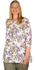 Zhenzi - Nous blouse floral print in crepe viscose