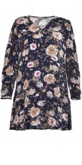 Studio Clothing - Flowery tunica with 3/4 sleeve