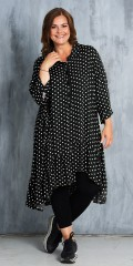 Gozzip - Nice  tunic dress with dots and flounces