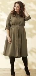 Zhenzi - Army Kleid mit Knöpfe